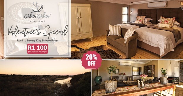 valentines day romantic accommodation on orange river